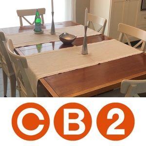 CB2 Linen Table Runners